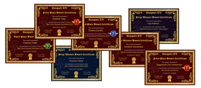 Ganpati.TV Certificates 2017